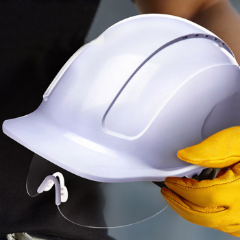 Safety Helmet With Protective PC Glasses ABS Construction Helmets Work Cap Engineering Power Rescue Helmet Working Hard Hat safety helmet hard hat work cap abs material construction protect helmets high quality breathable engineering power labor helmet