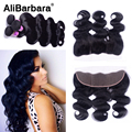 Peruvian Body Wave With Closure 13x4 Ear To Ear Lace Frontal Closure With Bundles 8A Virgin Human Hair 3 Bundles With Closure