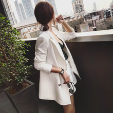 Set female temperament suit shorts two-piece 2019 spring and autumn new solid color temperament wild solid color women's clothes