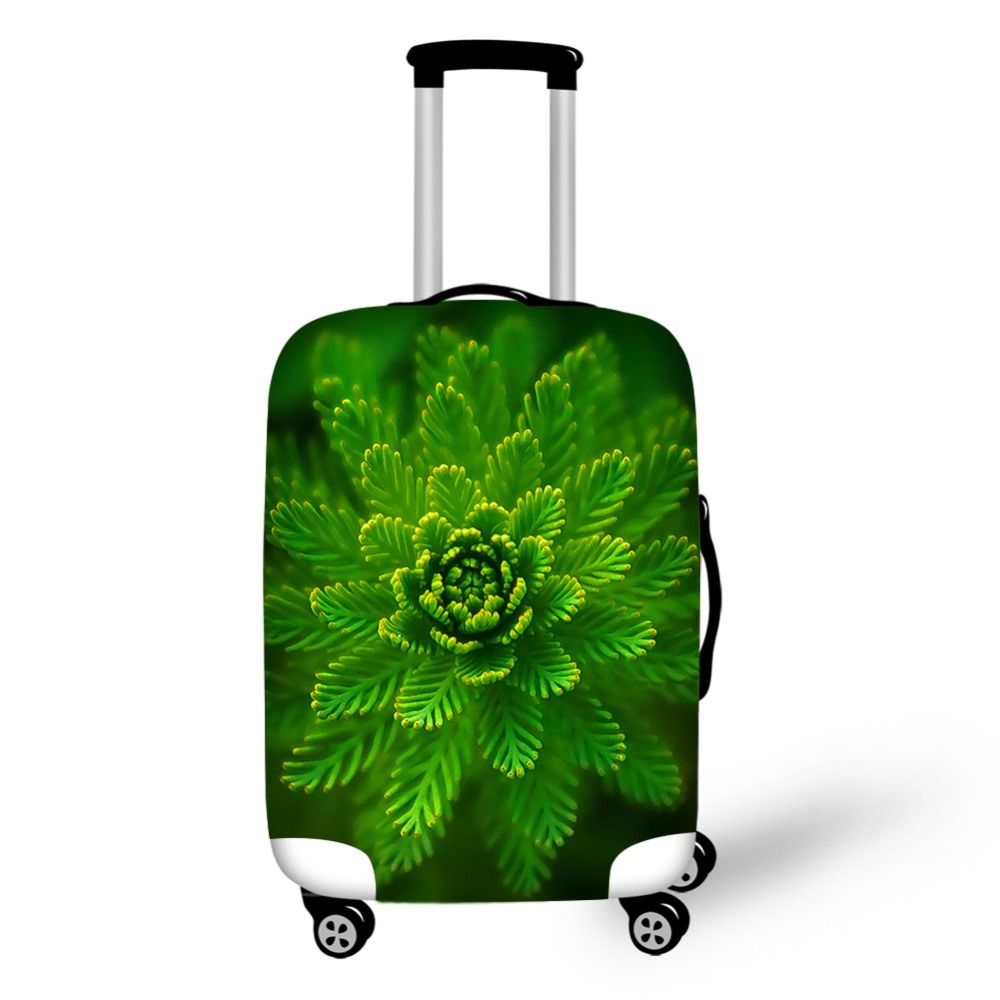 Suitcase Cover Green Series Luggage Protective Covers Travel Accessories High Elastic Trolley Case Dust Cover With Zipper