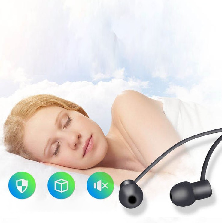 New sleep earphone in-ear remote control mobile phone computer universal headset with call subwoofer noise reduction earplugs