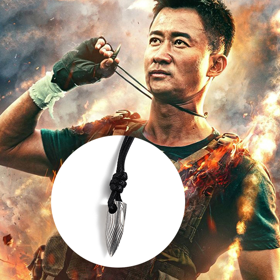 Hot Movie Wolf Army2 Leng Bullet Pendant Necklaces Personality 925 Silver Necklace with Rope Chain for Man Women Jewelry Warrior new hot movie necklace wholesale fashion stainless steel movie jewelry punk wolf pendant wolf head necklace