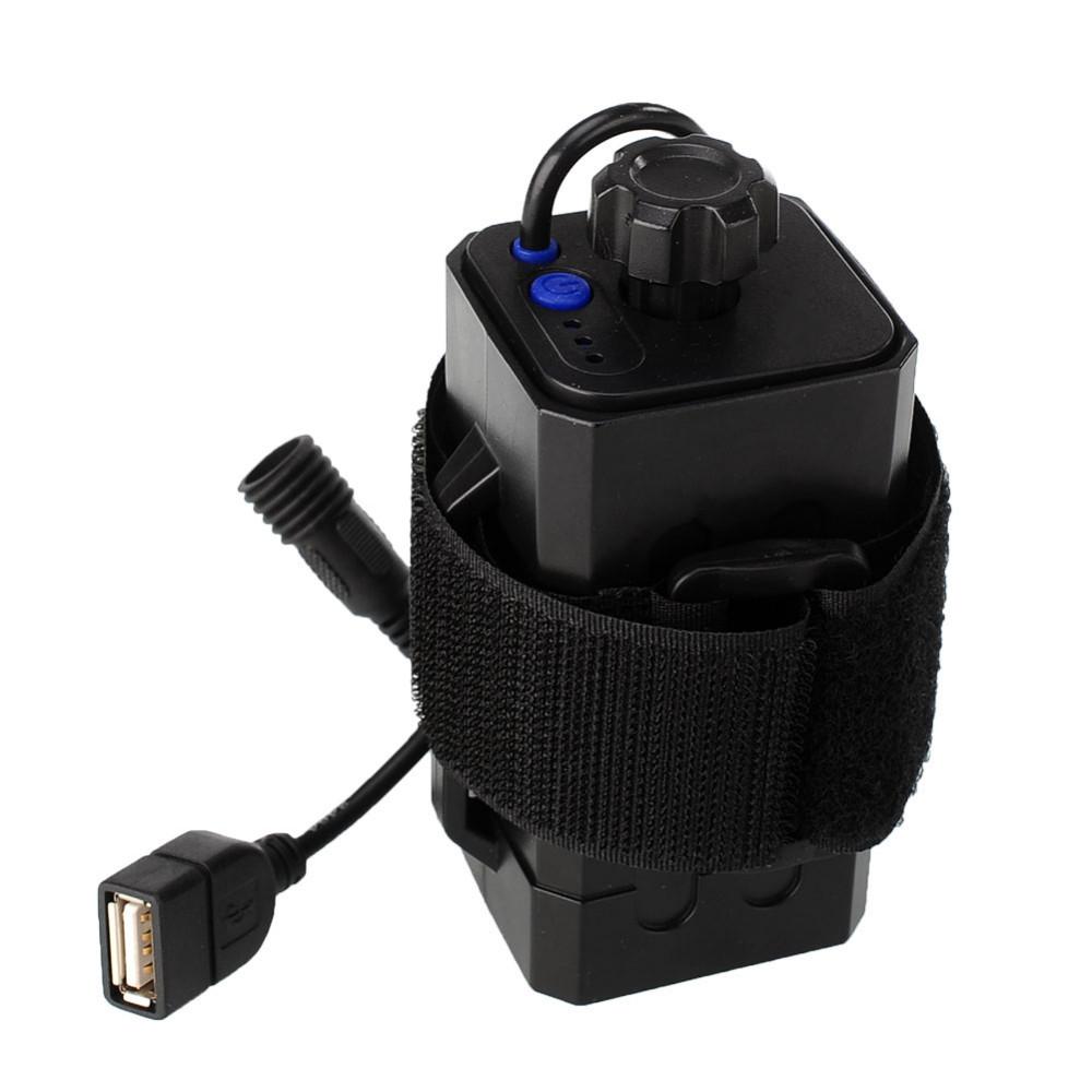 Dc & usb разъем 4x18650 водонепроницаемый аккумулятор чехол