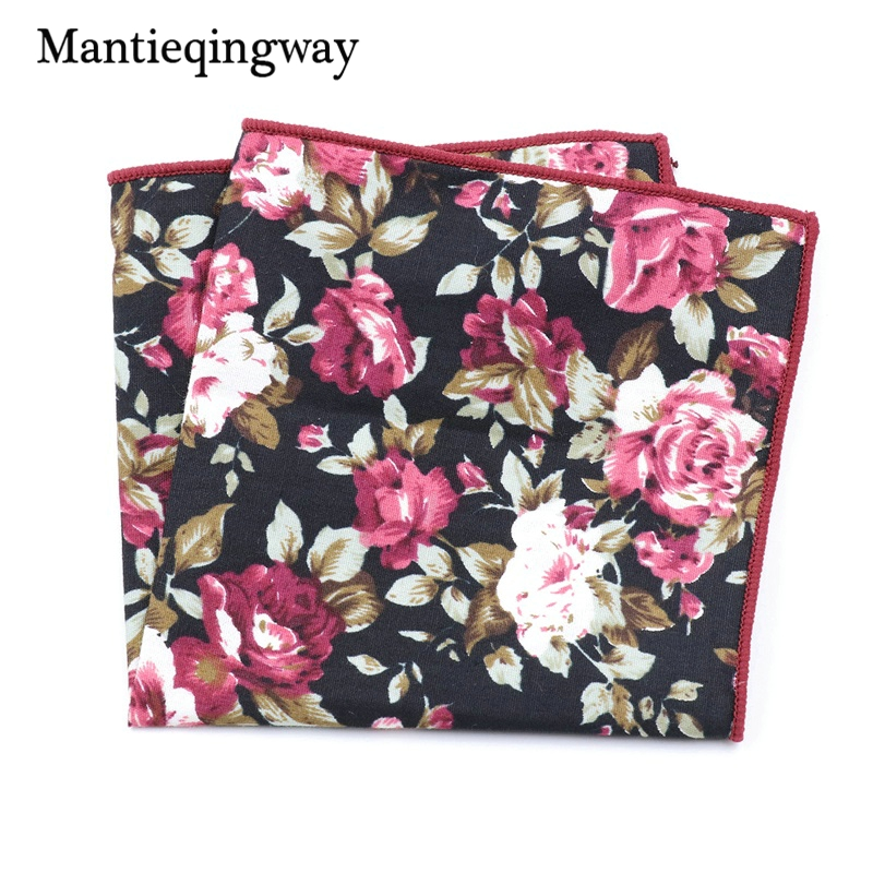Mantieqingway Chest Towel For Men's Suits Cotton Handkerchiefs Printing Pocket Square Hankies Mens Business Square Pockets Hanky