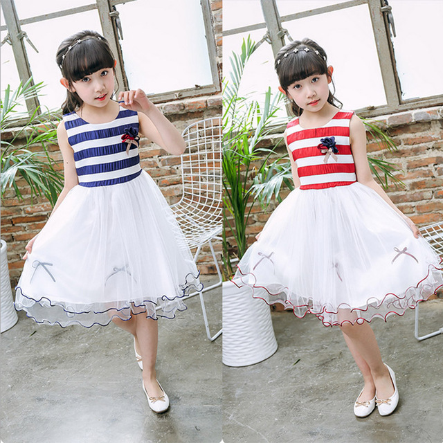 baby girl clothes flower girl dresses Striped Recital Graduation ...