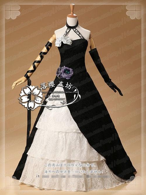 [Customize]Anime! DIABOLIK LOVERS Cordelia Gothic Lolita Uniforms Cosplay Costume Black Dress Free Shipping