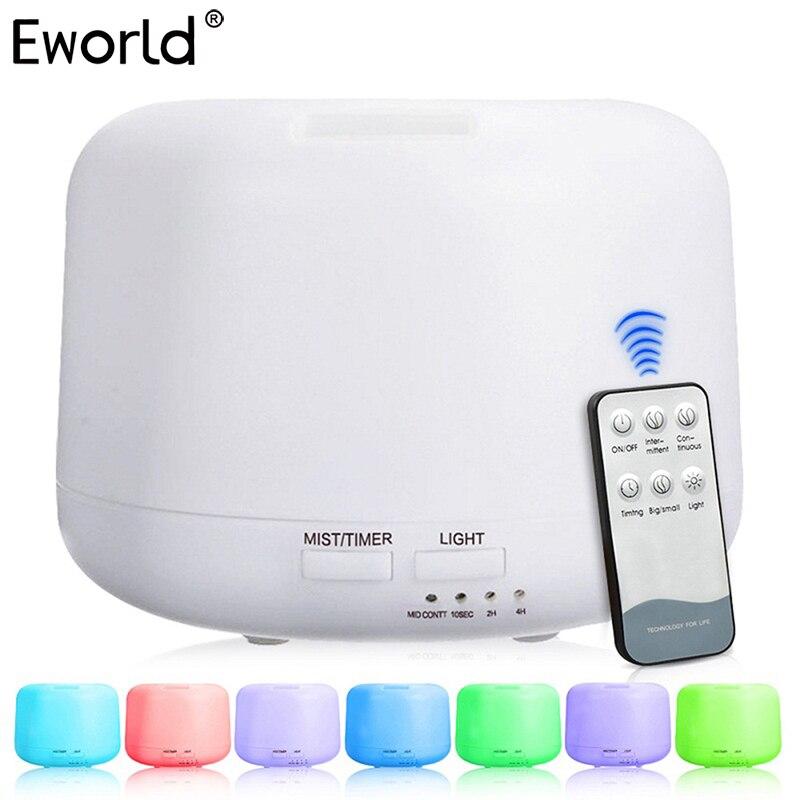 300 ML Telecomando Ad Ultrasuoni Umidificatore Elettrico 7 Luci di Colore Aromaterapia Olio Essenziale Aroma Diffusore Humidificador