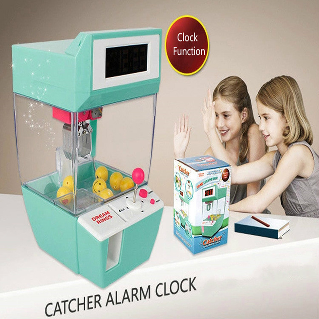 Coin Operated Candy Grabber Doll Candy Catcher Crane Machine  Alarm Clock Board Game Party Fun Toys for Children Christmas Gift