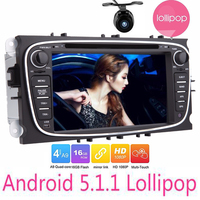 7018B Android 5.1.1 Double 2 Din Car DVD gps Multimedia Player for FORD FOCUS MONDEO WIFI Radio GPS navigation for ford focus