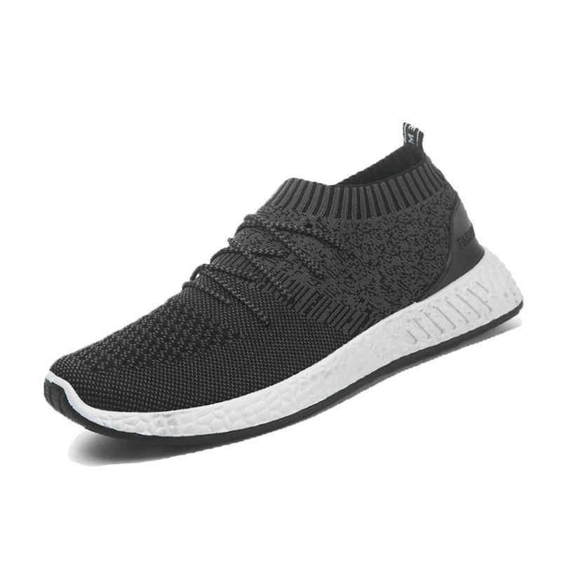 Vertvie/вязанная Мужская обувь из вулканизированной кожи; Новинка; кроссовки; дышащая повседневная мужская обувь 2019 года на шнуровке из сетчатого материала; Tenis; весенние кроссовки для взрослых