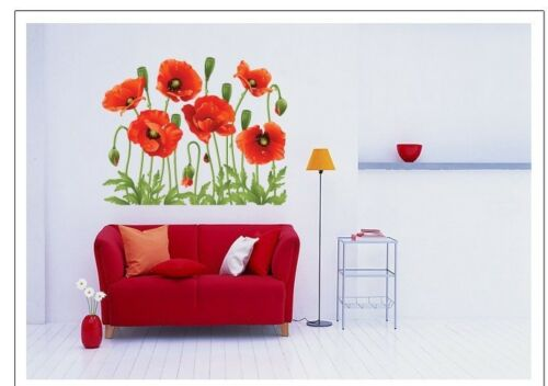 Image 2 - Flowers Removable Wall Stickers Decal Art Vinyl Flower Mural Home Room Decor DIY-in Wall Stickers from Home & Garden