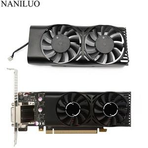 Image 1 - HA5510M12F Z 0.20A 2Pin GTX1050 Ti GPU wentylator chłodnicy dla MSI geforce GTX 1050 2GT LP GTX 1050Ti 4GT LPV1 karty graficznej chłodzenia