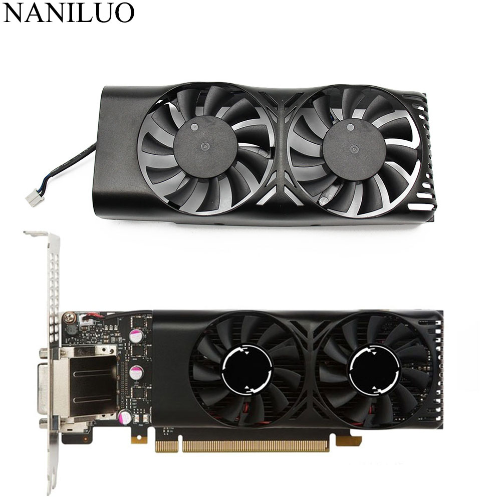 HA5510M12F-Z 0.20A 2Pin <font><b>GTX1050</b></font> Ti GPU Cooler Fan For MSI Geforce GTX <font><b>1050</b></font> 2GT LP GTX 1050Ti 4GT LPV1 Graphic Card Cooling image