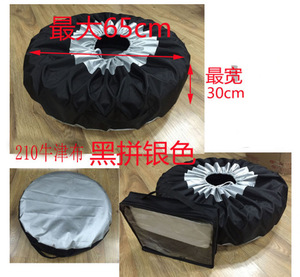Image 5 - 1PCS Tire Cover Case Car Spare Tire Cover Storage Bags Carry Tote Polyester Tire For Cars Wheel Protection Covers 4 Season