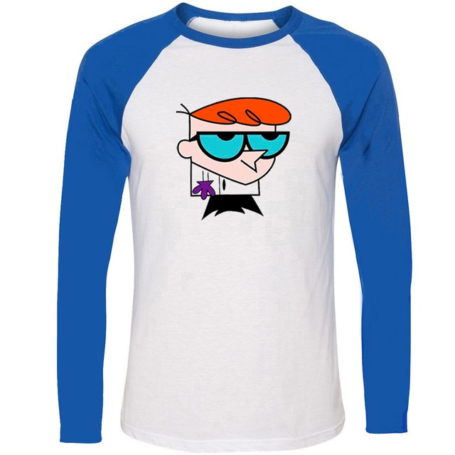 81df04e01 Cartoon Dexter's Laboratory Dexter Genius Unisex Raglan Long Sleeve Funny T  Shirt Men Women Boy Girl Harajuku T-shirts Tops