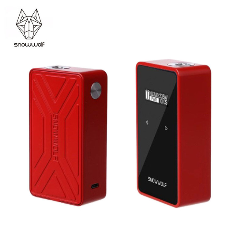 цена на Genuine Sigelei Snowwolf 200W Plus C Box Mod VW TC 235W Dual 18650 Battery Mod For 510 Thread Atomizer
