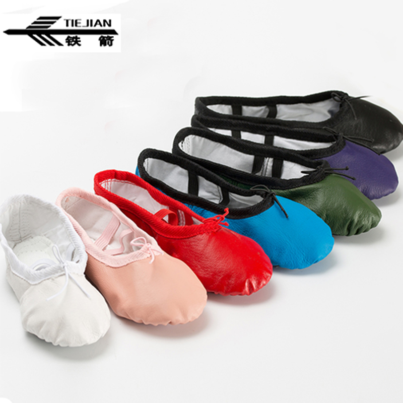 TIEJIAN Colorful Ballet Shoes For Women Girl Comfortable Breathable Pigskin Dance Shoes Adult Children Yoga Gym Dancing Shoes 56