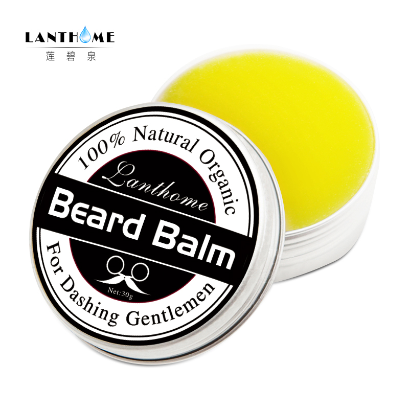 New Lanthome Beard Oil and Balm Moustache Wax beard grooming conditioner beard balm for styling moisturizing smoothing gentlemen 2