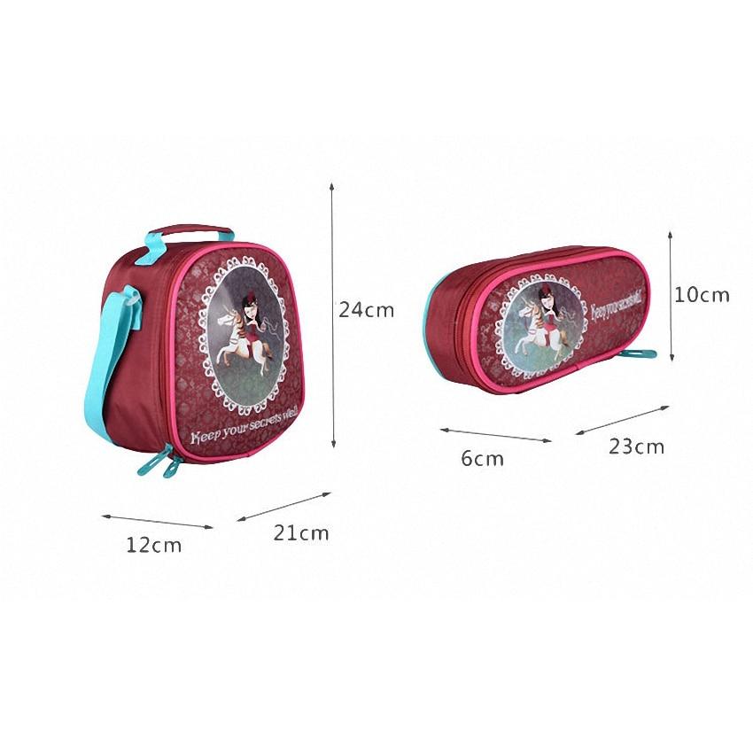 JASMINESTAR 3PCS Trolley School Bags Girl Laptop Backpacks Kids Satchel Luggage Large Capacity Wheeled School Bags For Girls 3