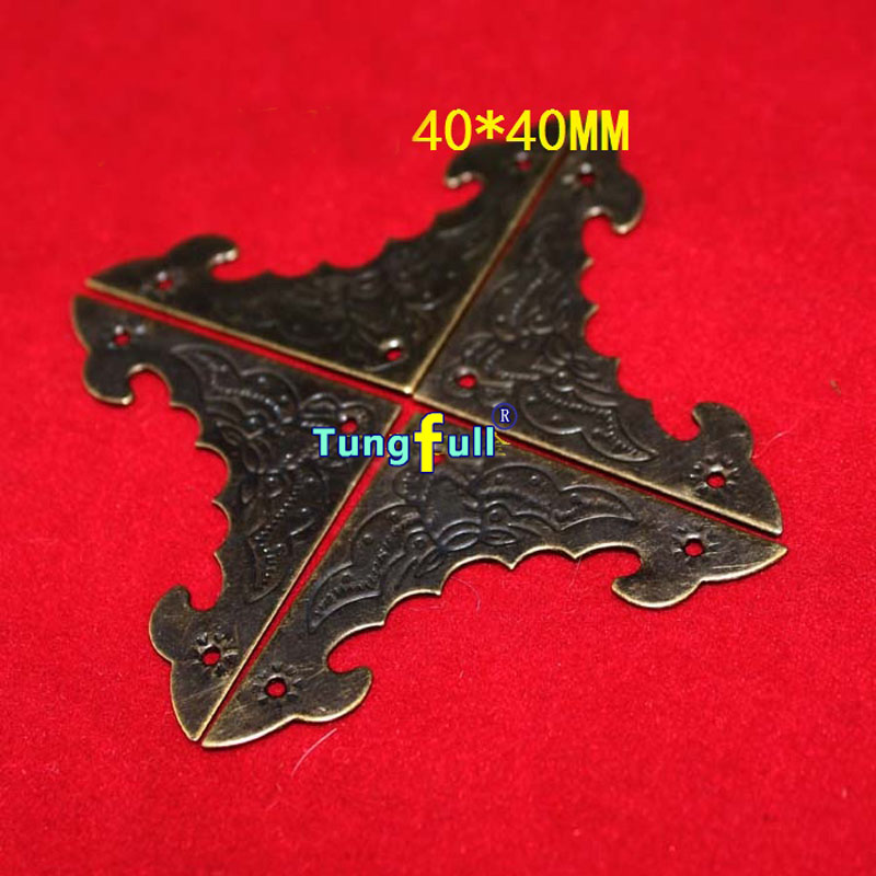 50pcs 40MM side length antique wooden bat stickers angle triangle Gift Bags angle iron decorative corner metal angle bracket lhx p0fh08 1 40 4mmhardware 4pcs 4 color antique angle packaging bag crashproof packer corner gift trumpet flower wrap angle