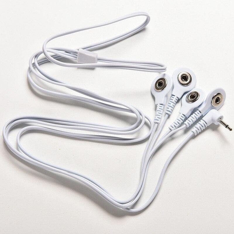 Elektrode Blei Drähte Anschluss Kabel für Digitale ZEHN Therapie Maschine Massage Elektrode Draht Stecker 2,5mm 4 Tasten