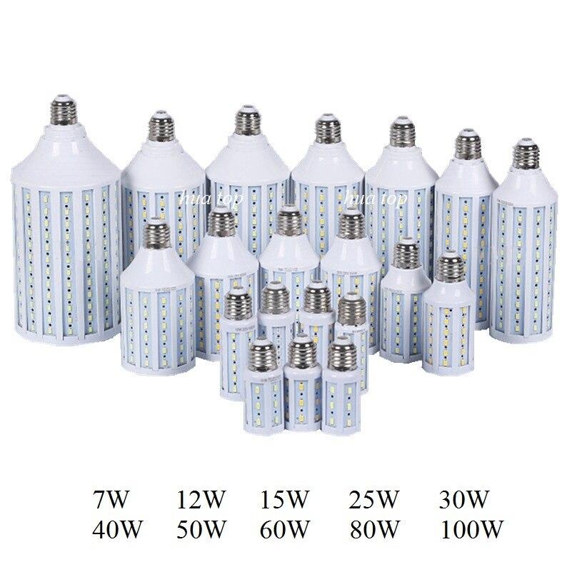 7W 12W 15W 25W 30W 40W 50W 60W 80W 100W bombilla LED para lámpara E27 E26 E40 5730 Luz de mazorca 110V 220V luces blancas cálidas frías E27 /E26 bombillas Led para lámpara de mesa Flexible brazo oscilante abrazadera montaje lámpara Oficina estudio hogar mesa escritorio luz EU/US enchufe AC85-265V
