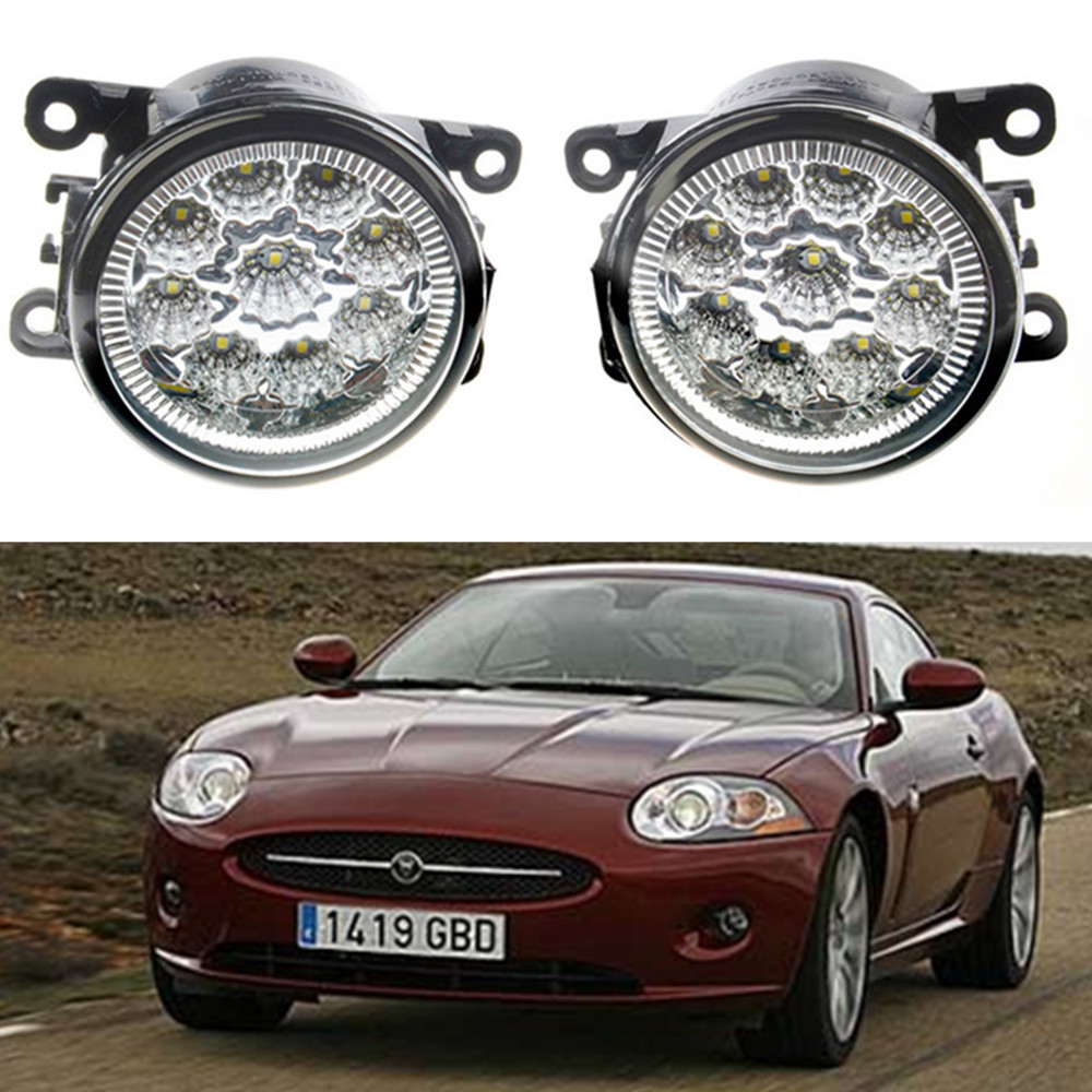 For JAGUAR XK Coupe _J43_  2006-2015 Car styling front bumper LED fog Lights high brightness fog lamps 1set for jaguar s type 1999 2008 led lamps fog light lights car styling 1 set