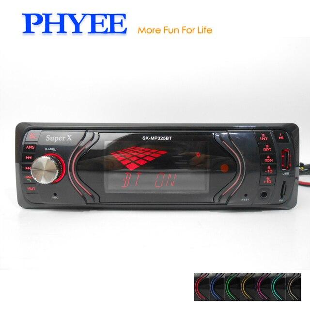High Power 1DIN Bluetooth Auto Audio Radio Stereo Head Unit ISO ...