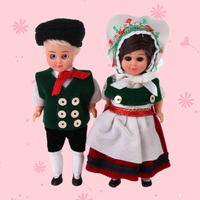 Kids Toys Ethnic Dolls A Set German Couples Mini Ethnic Clothes Doll For Girls Boys Children