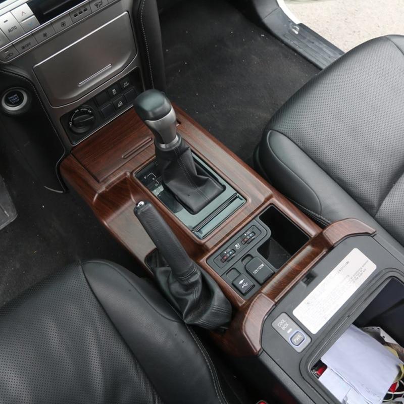 Gelinsi pour Toyota Prado 2018 voiture style bois support de verre panneau couverture garniture cadre autocollant accessoires d'intérieur - 4