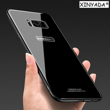 Xinyada Tempered Glass Case For Samsung Galaxy S8 / S8 Plus Shell Luxury Hybrid Back Cover Shockproof Sleeve Housing