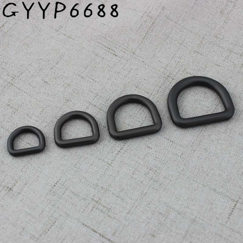 13mm 24mm Matte Gun Black Bags'polished Nickel Inside Bags Metal Accessory Alloy Round Welded Closed Dee D Ring Parts Cast Solid