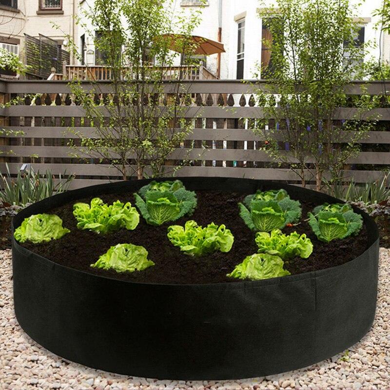 Gallon Black Plants Growing Bag Raised Plant Bed Garden Flower Planter