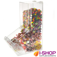 Food Safety Plastic Acrylic Food Jar Suger Jar With Lid Candy Box