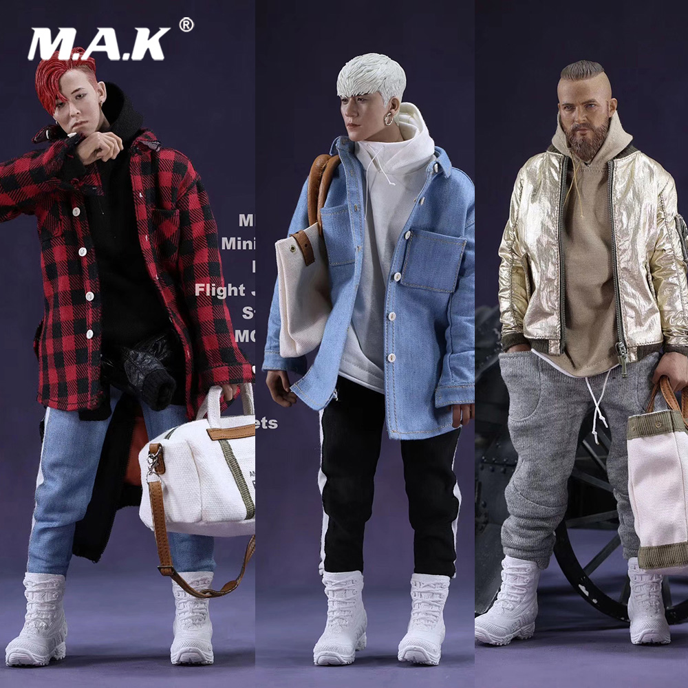 In Stock Fashion Clothes Set 1/6 MR.Z's Mini Closet MA-1 Flight Jacket Sets with Canvas Bucket Bag 3 Styles for 12'' Figure 1 6 fashion custom air force jacket set punk jacket set with canvas bucket bag f 12 inches g dragon male body action figures