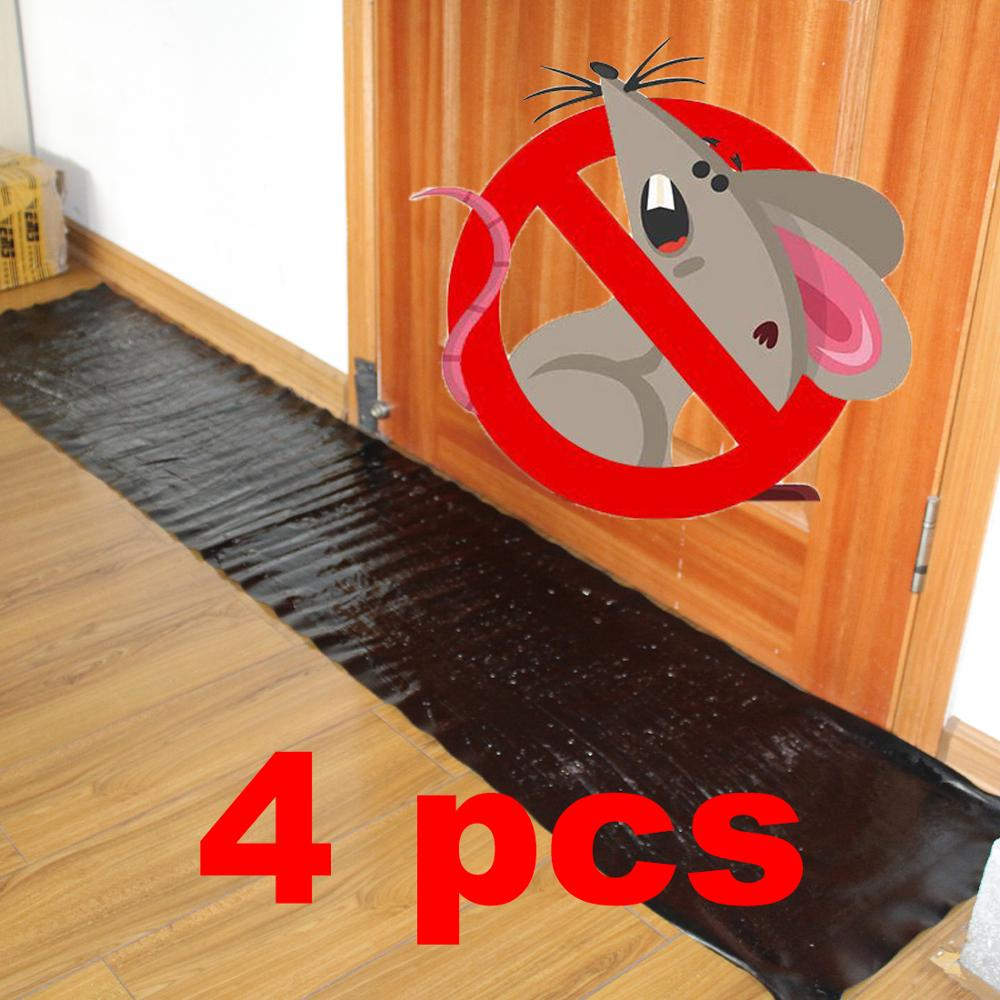 4pcs Anti Rat Large Big Sticky Glue Mat Rodents Moles Mouse Trap Rat Mice Trap Black Invisible Mouse Glue Trap 1