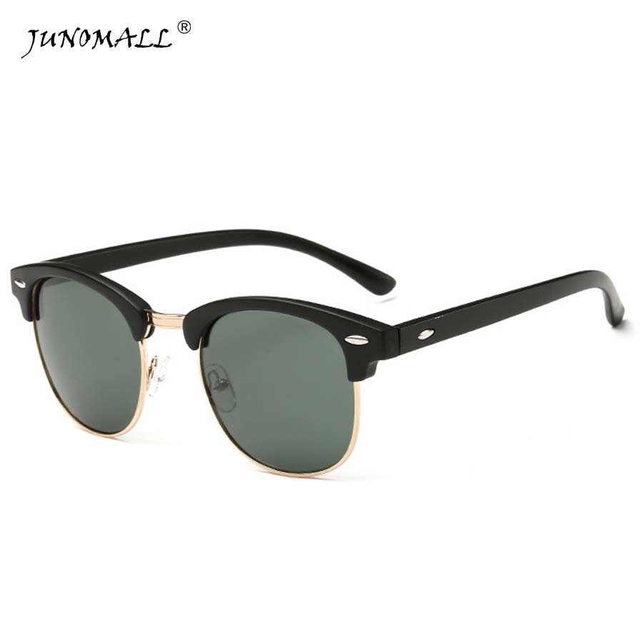 High Quality Half Metal Sunglasses Men Women Brand Designer Glasses Mirror Sun Glasses Fashion font b
