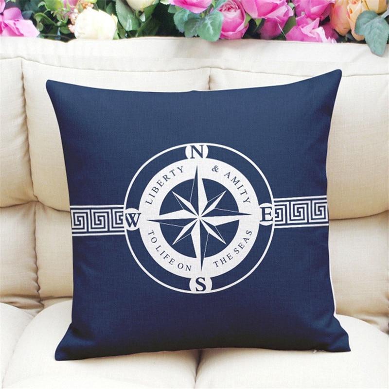 Actionclub/Декоративные подушки новый свежий Крепления синий Дизайн Чехлы для подушек для дивана офис поясничного Подушки Детские almofada hh1901