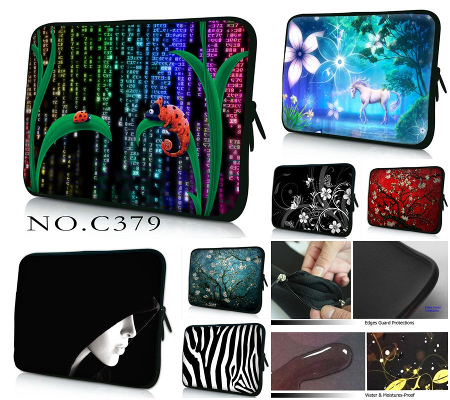 Cute PC Bag 10 11.6 12 12.1 13 13.3 15 15.6 17 17.3 Laptop Bag For Women Sleeve Case Tablet Briefcase Netbook Protective Pouch