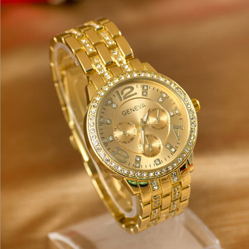 Relogio masculino high quality Geneva fashion casual watches men luxury brand business quartz watch women dress gold wristwatch все цены