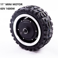 High Speed Tyres 11 inch 60v 1600w E Bike Motor 11 Electric Motorcycle Takeaway Engine Buggy Dultron Motor Scooter Hub Motor