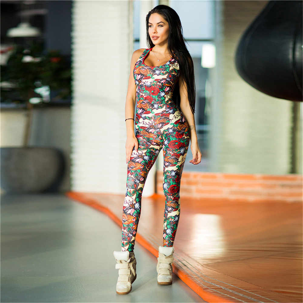 One-Piece-Sexy-Gym-Clothing-Suit-Floral-Print-Backless-Padded-Yoga-Set-Fitness-Running-Tight (4)