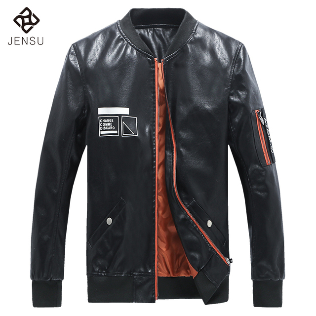 New Arrivals 2017 Men Leather Jackets PU Fashion Men Coats Jackets 5XL Plus Size Black Motor Cool PU Men's Casual V Neck Jackets