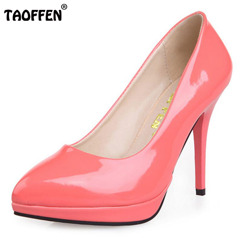 TAOFFEN free shipping high heel shoes women sexy dress footwear fashion lady female pumps P12059 hot sale EUR size 34-43 plus big size 34 43 sandals ladies platforms lady fashion dress shoes sexy high heel shoes women pumps a25