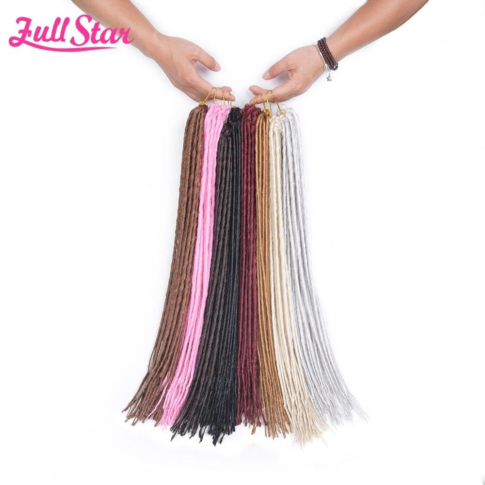 ヾ(^▽^)ノ6 pack full Star sintético dreadlocks crochet trenzas 20 ...