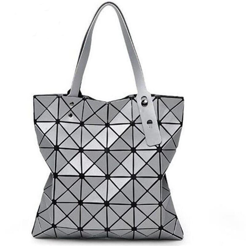 2016 Hot Sale Women Designer Famous Brand Shoulder Handbags Geometric Rhombus Bags for Women bao bao Bag Messenger Bags Silver