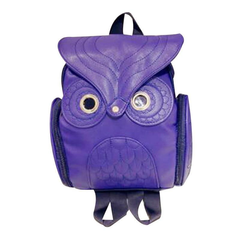 Fashion Women Backpack Newest Cool Cute Pu Leather Owl Backpack Female Hot Sale For Teenagers Girls