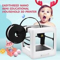 E3D NANO мини 3D принтеры одним из ключевых Управление автоматический образования точность CE FCC RoHs для Windows бытовой младенческой детские рождест