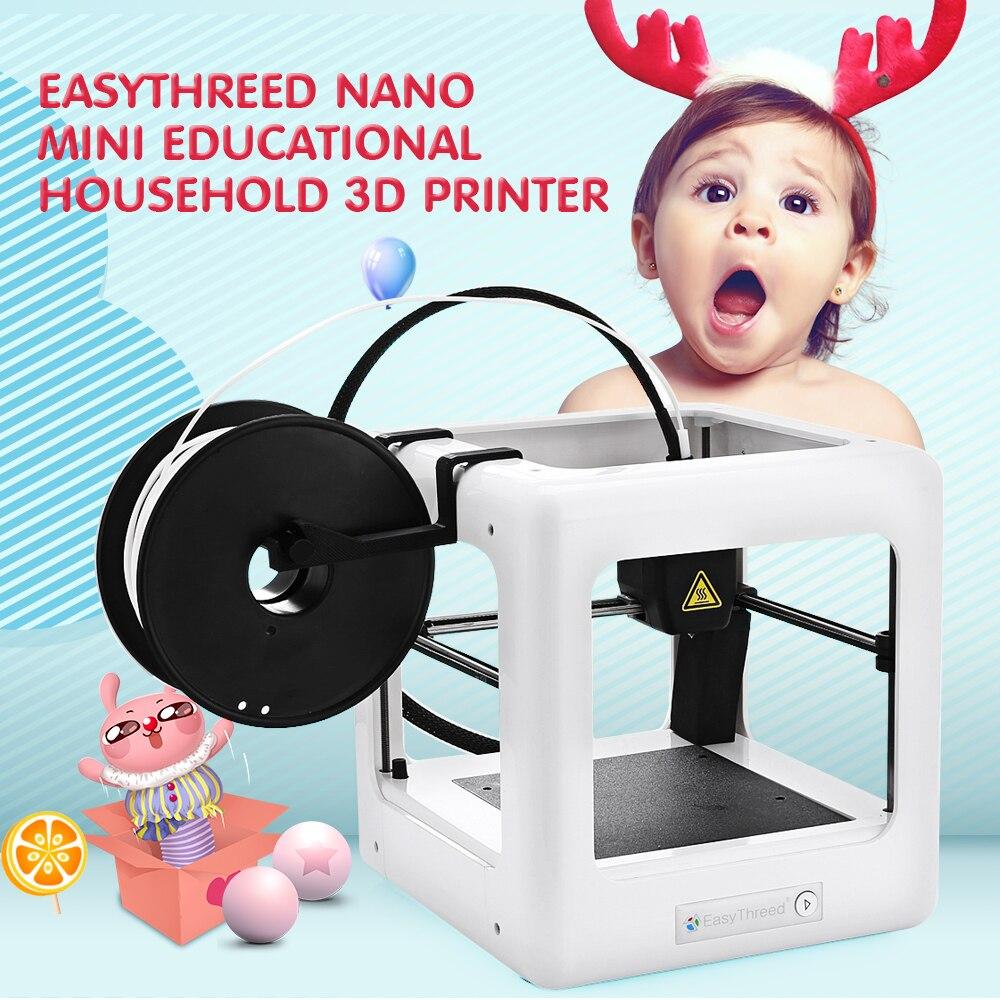 E3D NANO Mini 3D Imprimante Un Contrôle clé Automatique Éducatifs Précision CE FCC RoHs pour Fenêtres Ménage Infantile Bébé Noël