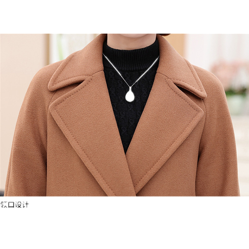 caramel red Thickening Femmes Mode Jacketodfvebx Survêtement green Manteau Thickening Mince Thickening Moyen Lâche 2018middle Plus Haut aged La Gamme longueur Taille De Laine caramel Femelle red Khaki green BqgxtARw